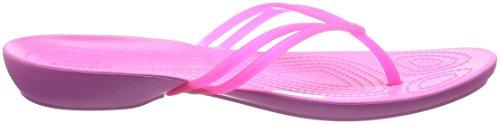 crocs Damen Isabella Sandalen Flipflops, Schwarz Rosa (Vibrant / Pink / Party / Pink)