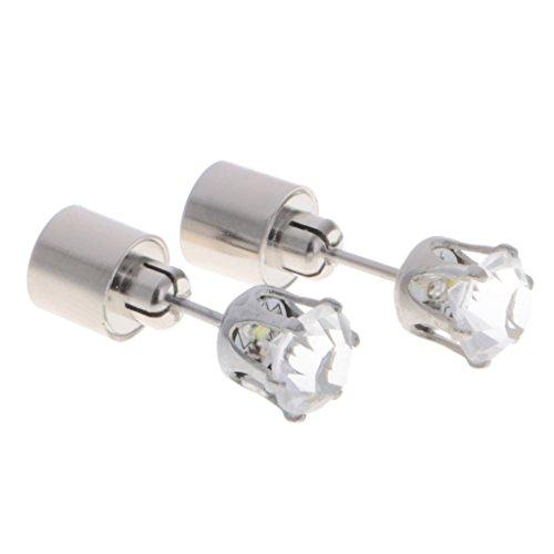 Homyl LED Ohrringe Ohrstecker Ohrringe mit Licht Geschenke für Halloween, Danksagung, Weihnachten - Weiß