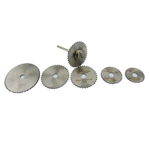 6 Piezas HSS Metal Circular Saw Disc Wheel Blades Cut Off Dremel Talad