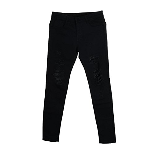 MCYs Jeans Taped Slim Fit Denim Pants Brand high Street Hole Old Slim Feet Men's Motorcycle Pants Mens Stretch Ripped Skinny Bike Destroyed Jeans