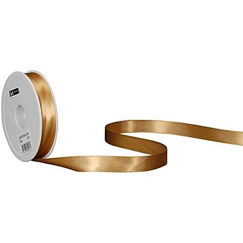 Spyk Bänder 2082.1632.0000-085 Nastro Doppio Raso per Regalo, 16 mm, 25 m, Oro