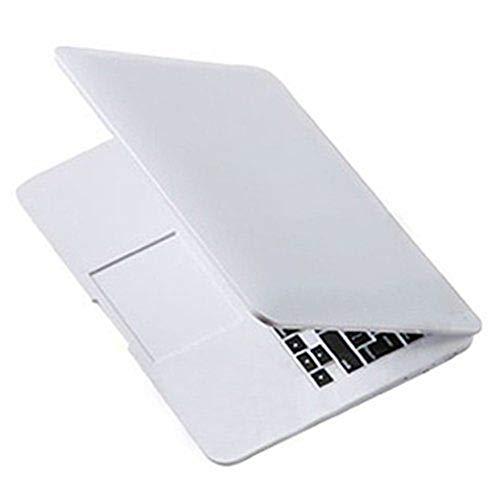 Babysbreath17 Nette Mini-Tasche Laptop-Art Klarglas Frauen Kosmetische Schönheits-Spiegel-Mode Notebook-Formular Make-up Spiegel Weiß Apple Spiegel