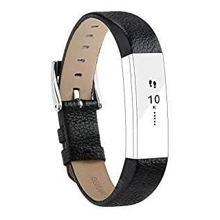 Goosehill Replacement Leather Straps Bands Compatible for Fitbit Alta and Alta HR, Adjustable Replacement Bracelet Sport Straps Unisex Fitness Wristband