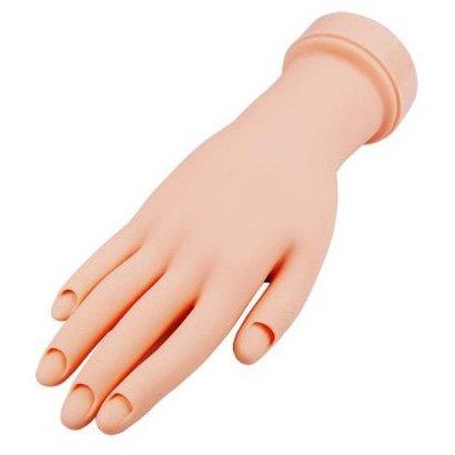 SODIAL(R) Mano De Caucho Dedos De Practica Flexible Manicura Pa Arte De Unas PVC