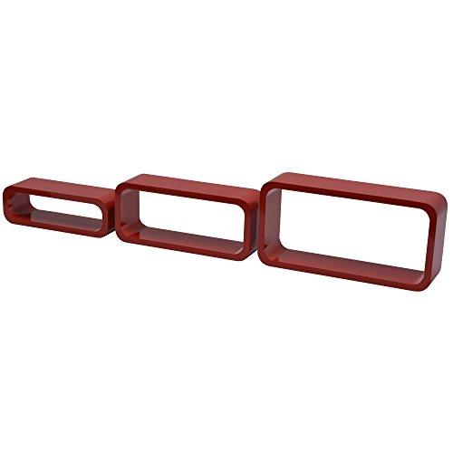 Duraline gioco 3 cubi ovale angolo curvi, legno, rosso, 40 x 20 x 10cm, 2 unità