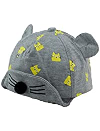 8e27a0bc78f Kidofash Baby Boy Baby Girl Baseball Cap Flat Peak Cotton Hat Beret Cap for  Summers (