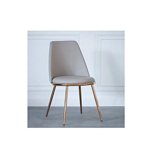LWBUKK Home rückenlehne Stuhl Freizeit hocker Restaurant Cafe Computer büro lederstuhl sitzhöhe 44 cm Zwei Farben optional Stuhl (Color : B)