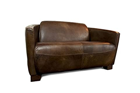 Red Baron vintage leather sofa