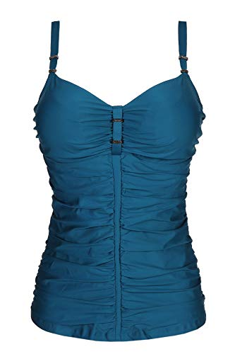 Primadonna Swim Cocktail Tankini Top D-G Cup Booboo Blue 85G -