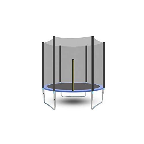 QARYYQ Das Trampolin hat den Sicherheitstest mit einem runden Gartentrampolin mit Sicherheitsnetz und Leiter und gepolsterter Stange Outdoor Blue 306 cm bestanden Trampolin