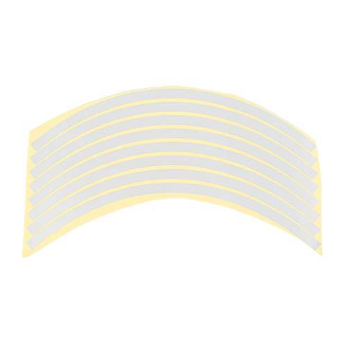 LINYANMY 8 STÜCKE Felge Reflektierende Streifen Für 10~20 Zoll Rad Auto Motorrad Reflektierende Aufkleber Aufkleber