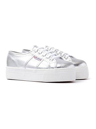 Superga 2790 Cotmetw, Sneaker Donna Argento (Silver)