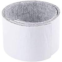 Clispeed Nadelfilz Rechteckige Nadelfilz Nastri Anti-Rutsch Filzstreifen für Möbelfüße Filzstreifen Bodenschutzmatte (Hellgrau) - 100x10 cm