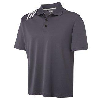 Golf Polo Shirt Herren Adidas Climacool 2012 Pique Einfarbig 3 Streifen S - XXL - Precinct - S (Pique Polo-shirts Climacool)