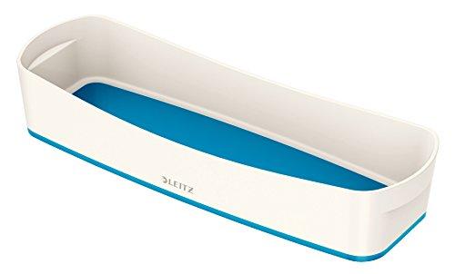 Leitz MyBox, Aufbewahrungsschale, Länglich, Blickdicht, Weiß/Blau Metallic, Kunststoff, 52581036 -