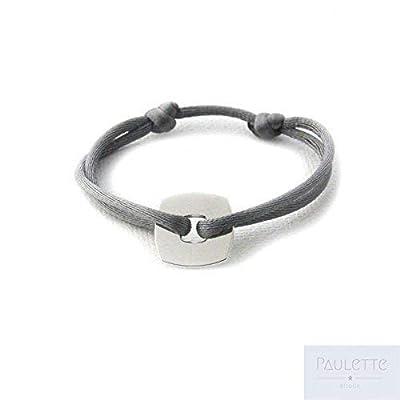 Bracelet Cercle/Cible carrée en Argent 925