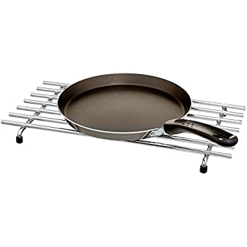 CKB LTD/® Large Rectangular Metal Trivet Chrome Steel Premium Worktop Saver Work Surface Protector Metal Mat For Resting Hot Cooking Pots /& Pan 50 x 24cm