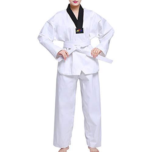 uirend Kampfsport Bekleidung Unisex Kinder Erwachsene Trainingsbekleidung Dobok Taekwondo Gi Sets - Judo Anzug Uniform Outfit Aikido Karate Kung Fu Training Wettkampf Gürtel Polyester -