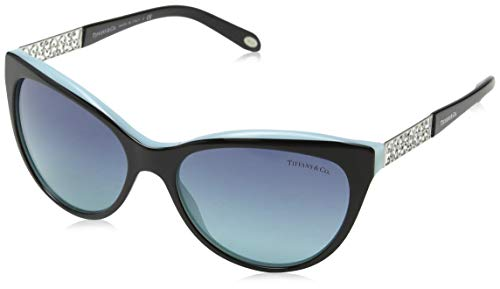 Tiffany 0ty4119 80559s 56, occhiali da sole donna, nero (black/blue/azuregradientbluee)