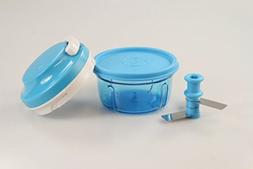Tupperware Chef del Turbo Chef Azzurro + coperchio blu affettacipolle Speedy Boy P 23758