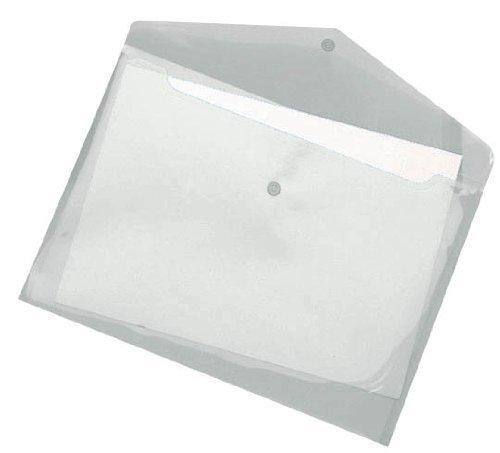 Dokumententasche, PP, A4, Druckknopf, transp. farblos, 10 St