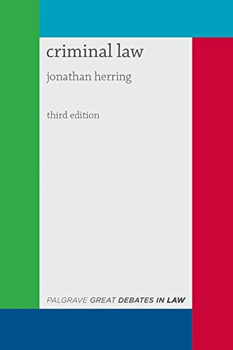 Great Debates in Criminal Law (Palgrave Great Debates in Law) por Jonathan Herring