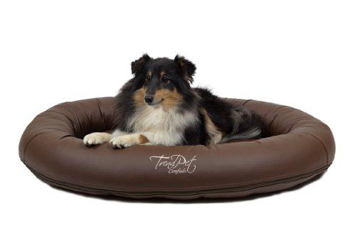 Bild: TrendPet Comfado 90x70cm Espresso Luxus Hundebett aus SoftKunstleder Das Hundebett