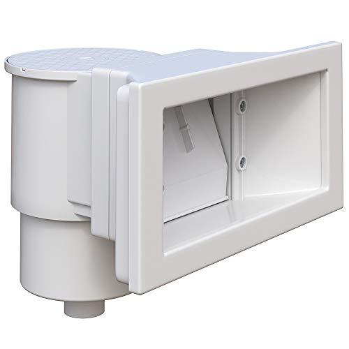 OSKAR Skimmer Set Einbauskimmer Komplettset mit Einlaufdüse Oberflächenskimmer (Breit)