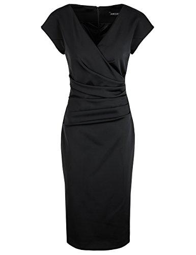 Marc Cain Collections Damen Kleid Schwarz (Black 900)