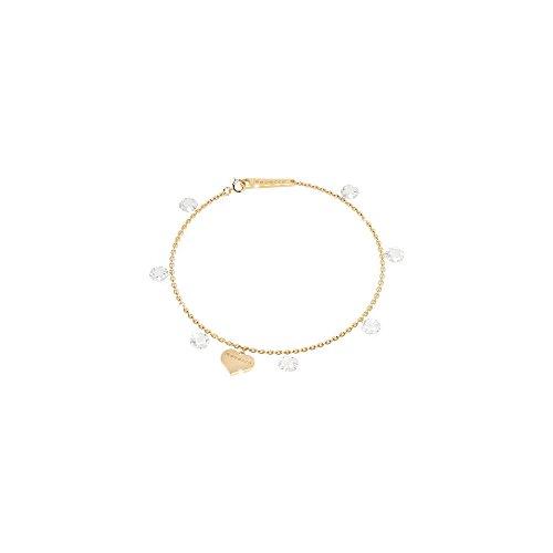 Rebecca Armband für Damen aus Silber Gold Steine in Herzform