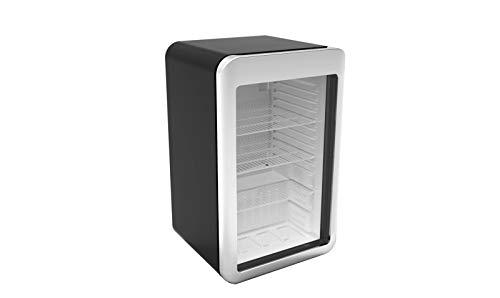 Minibarkühlschrank - 113 Liter - mit 1 Glastür - Schwarz/Silber