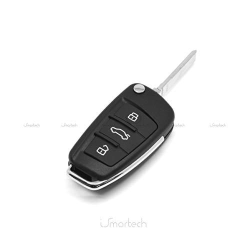 Heart Horse Cuore cavallo guscio chiave telecomando pieghevole Flip Case 3pulsanti compatibile con Audi A3A4A6A8TT Q7S6quattro