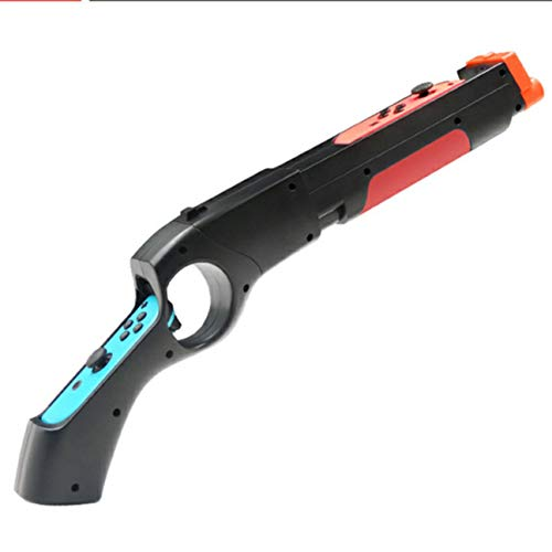 MachinYeser Game Gun Compatible con Nintendo Switch Wolfenstein 2 Nintendo Switch Wii Remote Nunchuck Shoot Sport Juegos Negro