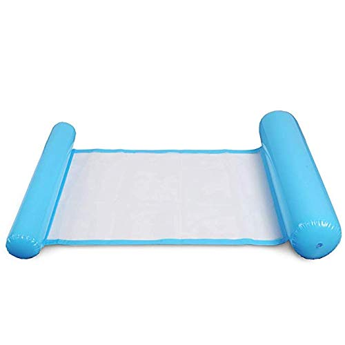 SU JIA Wasser-Erholungs-Bett mit faltender Hängematten-Sich hin- und herbewegender Reihen-Stuhl-Sofa-Rückseite,Blue -