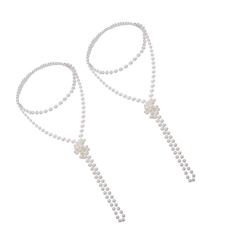 1caf67501 JZZJ 2 Pack 1920s Fashion Artificial Pearl Necklace Flapper Beads Faux Pearl  Party Accessories, 71