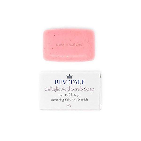 Jabón exfoliante con ácido salicílico poro exfoliante, lucha contra el acné, piel suavizante, antimanchas, elimina las verrugas