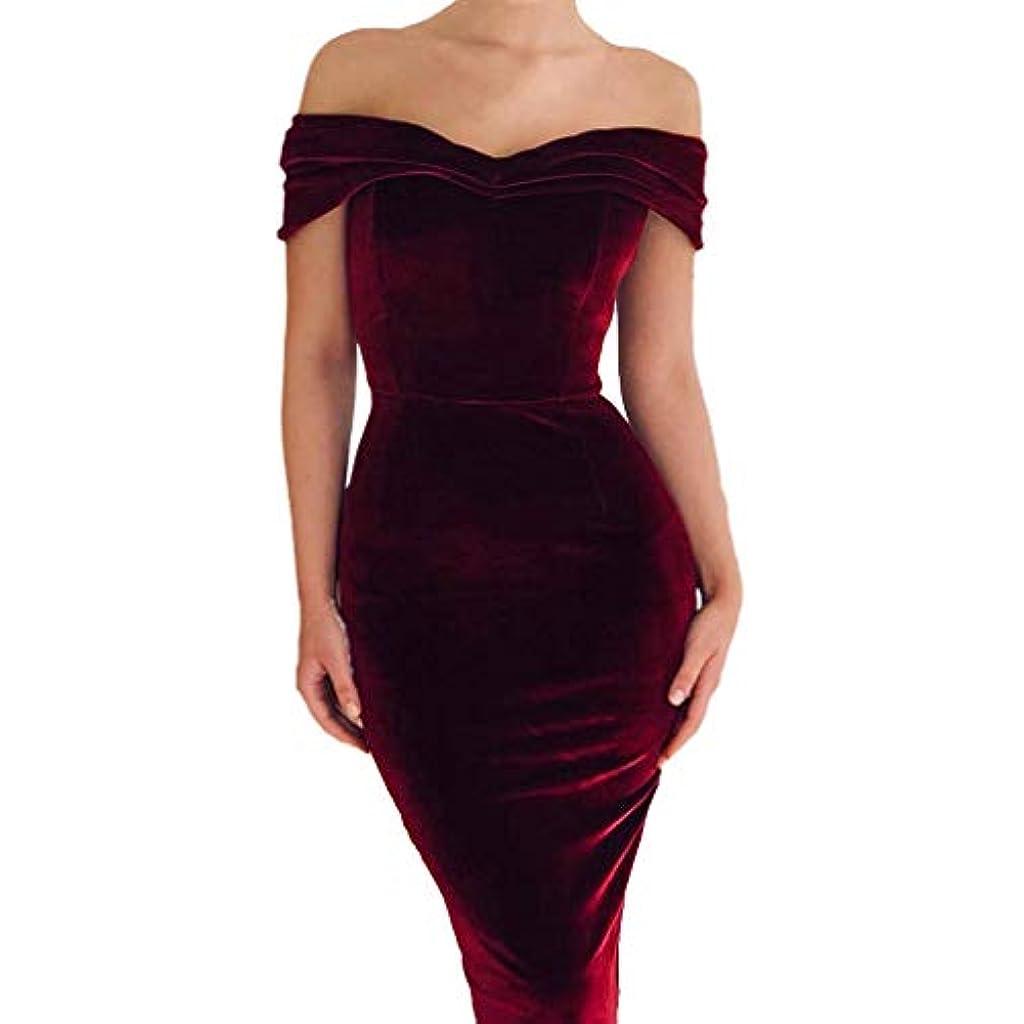 a99b3d08fb Vestido de Terciopelo con Escote Barco Mujeres - Vintage Bodycon Vestidos a  Lápiz Elegante Cuello Barco Mid Vestido de Noche para Cóctel Fiesta Vino ...