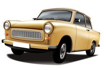 """Poster-Bild 140 x 90 cm: \""""DDR PKW Trabant 601\"""", Bild auf Poster"""