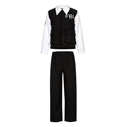 Kostümplanet® FBI Agent Jungen Polizei-Kostüm Kinder Polizist Größe 152 (Fbi Agent Kostüm Für Kinder)