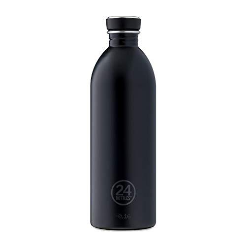 24Bottles Urban, Trinkflasche Unisex Erwachsene, Unisex - Erwachsene, Urban, Tuxedo Black, 1000 ml - 1 Liter Metall-wasser-flasche