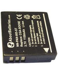 Batterie pour PANASONIC LUMIX DMC-LX3, 3.7V, 1100mAh, Li-ion