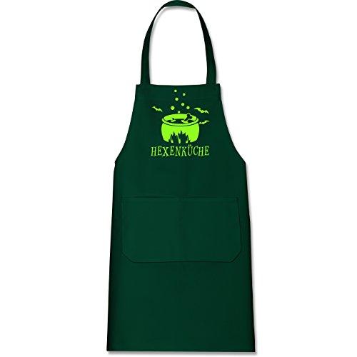 Shirtracer Küche - Hexenküche - 80 cm x 73 cm (H x B) - Grün - X967 - Kochschürze mit Tasche (Halloween-kostüme Ideen Grüne)