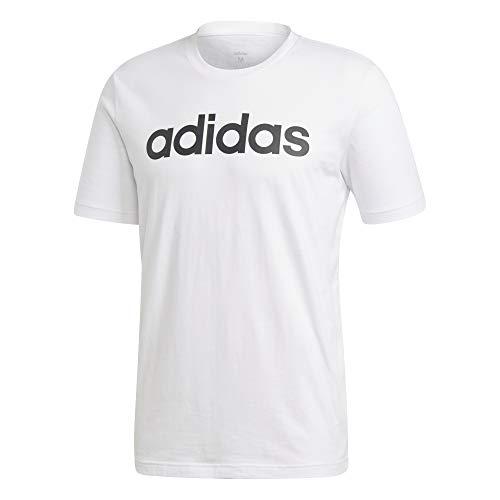 adidas Herren E LIN Tee T-Shirt, White/Black, M - Weiches Tee T-shirt