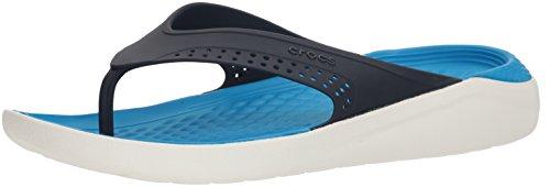 crocs Unisex-Erwachsene Literide Flip Zehentrenner, Blau (Navy/White 462), 36/37 EU