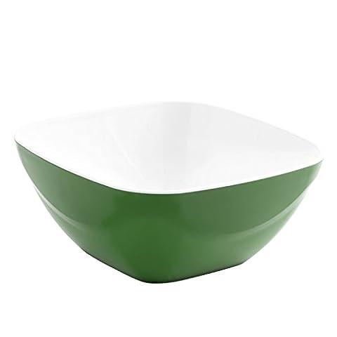 Quid Kare Salad Bowl Square, 23cm, Green 23