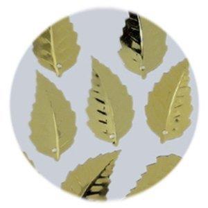 Pailletten Blatt geprägt 12 x 18 mm Gold ca. 33 Stück -