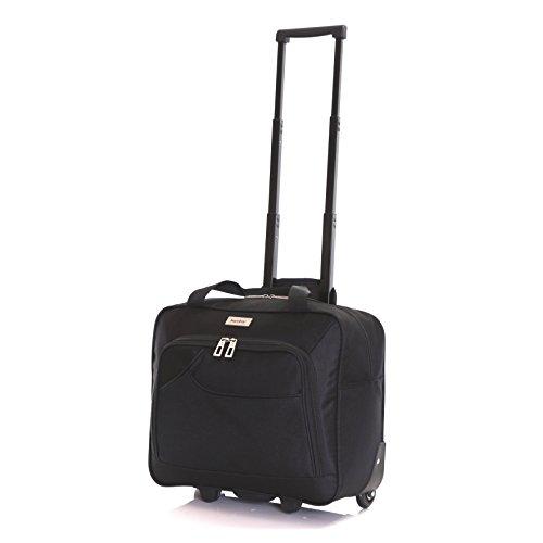 Karabar Brigg Roll Laptop-Tasche - 10 Jahre Garantie, Schwarz Schwarz