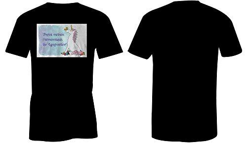 Fresst Meinen Sternenstaub Ihr Langweiler 2 ★ Rundhals-T-Shirt Männer-Herren ★ hochwertig bedruckt mit lustigem Spruch ★ Die perfekte Geschenk-Idee (01) schwarz