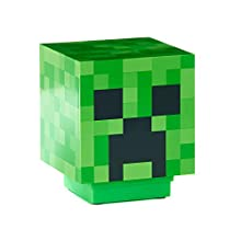 Paladone Minecraft Light BDP with Creeper Sounds Powered by 2X AAA Batteries, Gree, Green, 11cm