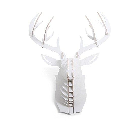 CNMKLM Testa dei cervi di decorazioni parete creativa casa creativa nordico ciondolo testa animale creativo murale 64 x 48 x 35 (cm),D - Caccia Dei Cervi Decor